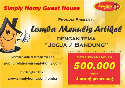 lomba menulis artikel simply homy guest house berhadiah uang tunai
