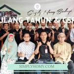 Kemeriahan Ulang Tahun & CSR Simply Homy