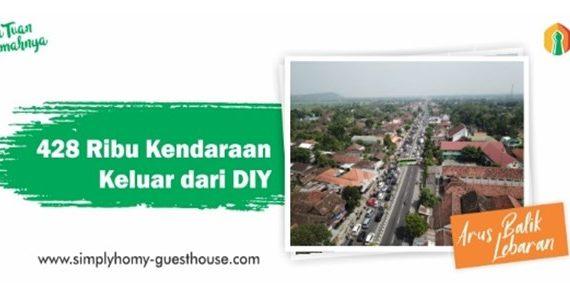 Sebanyak 428 Kendaraan Keluar Dari Daerah Istimewa Yogyakarta