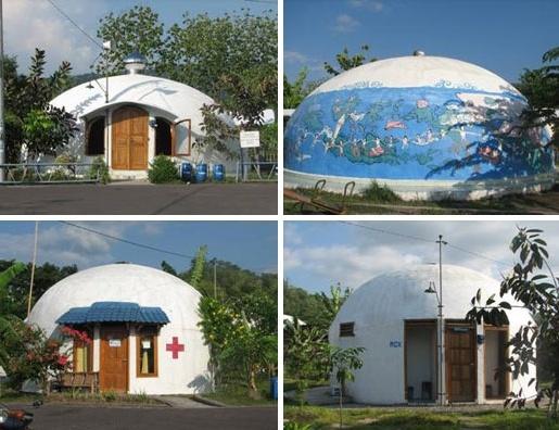 Rumah Dome Desa Teletubbies
