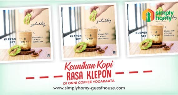 Keunikan Kopi Rasa Klepon Di Onni Coffee Yogyakarta