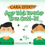 CARA EFEKTIF AGAR TIDAK TERTULAR VIRUS COVID-19